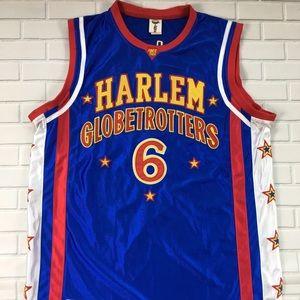 Signed Harlem Globetrotters #6 T -Time Jersey Sz M